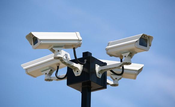 Белые камеры видеонаблюдения